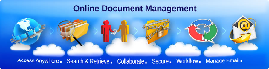 Online Document Management - Access Anywhere. Search and Retrieve. Collaborate. Secure. Workflow. Manage Email.
